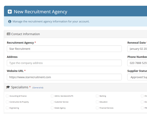 recruitment agency management system